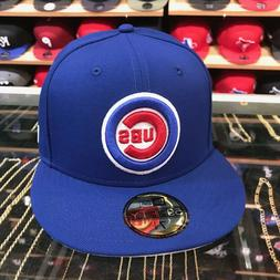 """New Era Chicago Cubs Fitted Hat All Royal/""""Cubs"""""""