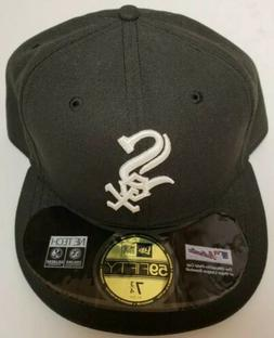 Chicago White Sox 59Fifty Fitted Hat MLB Cap Black  7 3/4 NW