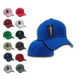 DECKY Classic Plain Fitted Pre Curved Bill 6 Panel Baseball