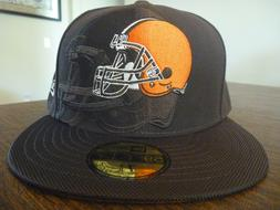 CLEVELAND BROWNS NEW ERA 59FIFTY ON FIELD SIDELINE BROWN FIT
