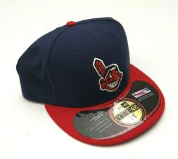 New Era Cleveland Indians 59Fifty Authentic OF Fitted Hat Na