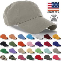 Cotton Cap Baseball Caps Hat Adjustable Polo Style Washed Pl