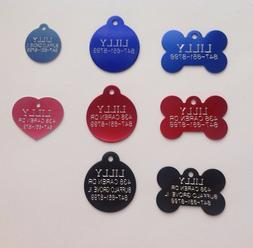 Custom Engraved Pet ID Tags for Dogs and Cats/Bone Shape, Ro