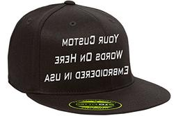 Custom Flexfit 210. Personalized Hat. Embroidered. Your Text