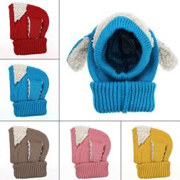 Cute Dog Shape Head Ear Warm Hat Baby Kids Infants Kintted W