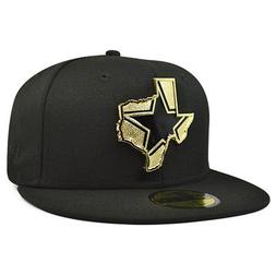 Dallas Cowboys New Era GOLD STATED Fitted 59Fifty Black NFL