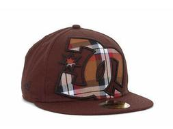 DC Shoes Hedland Chocolate Brown New Era 5950 Fitted Flat Bi