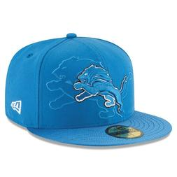 DETROIT LIONS NFL OFFICIAL SIDELINE NEW ERA 59FIFTY BLUE FIT