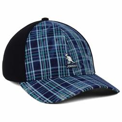 Kangol Distressed Plaid Links Stretch Fit Baseball Hat Cap L