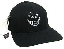 Disturbed Scary Guy Face Fitted Black Baseball Hat S/M New O
