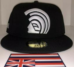 DS Fitted Hawaii Black/ White MUA Hat 7 1/2 Not Farmers Mark