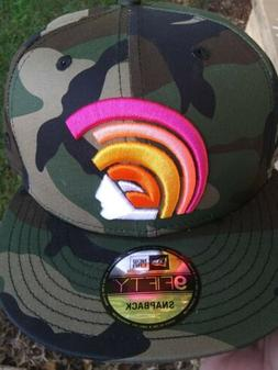DS FITTED HAWAII CAMO PINK ORANGE MUA DS SNAPBACK HAT