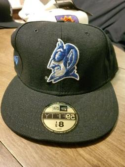 Duke Blue Devils New Era 59Fifty Hat Fitted Blue Size 8 1/2
