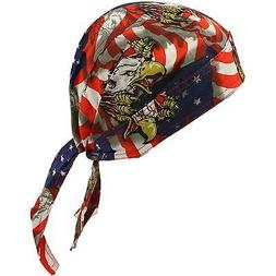 Eagle & Claw USA Flag Bandana Headwrap Headscarf Adjustable