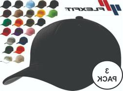 Flexfit Fitted Baseball Hat THREE PACK 6277 Wooly Combed Twi