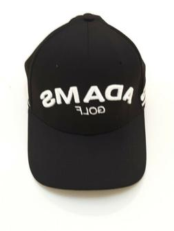 Adams Fitted Golf Hat Black medium to small size NWOT cheap