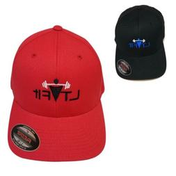 LT Fit Flexfit Gym Cap Fitted Baseball Hat Wooly Combed Twil
