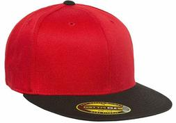 Yupoong Flexfit Premium 210 Fitted Flat Brim Baseball Hat