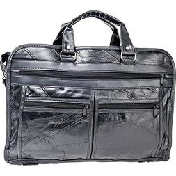 Maxam Brand Genuine Leather Briefcase features outside zippe
