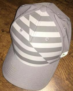 Adidas Golf Fitted Hat A-FLEX Printed Colorblock Gray S/M