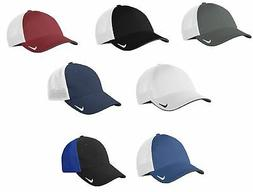 Nike Golf Fitted Hat Swoosh Flex Fit Mesh Back Cap Pick Size