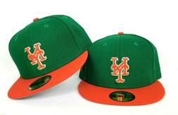 green orange new york mets 59fifty fitted