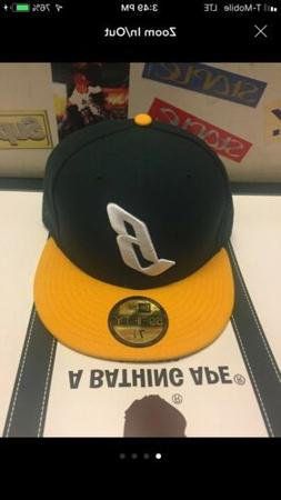 green yellow floating b new era fitted
