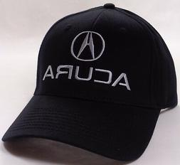 Hat Cap Licensed Flex Fitted Acura A Logo Black Small or Lar