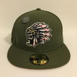 Hat Club Exclusive New Era 59fifty Fitted Olive Skull Chief