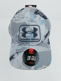 Under Armour Heatgear Mens Fitted Hat Camo Gray/ Blue/Black