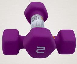 CAP Hex Neoprene 5 lb Pound Each Set Of 2 Dumbbell Weight -