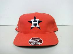 NEW ERA HOUSTON ASTROS FITTED HAT CAP ORANGE BLACK MEN SZ 7