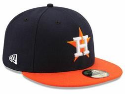 New Era Houston Astros ROAD 59Fifty Fitted Hat  MLB Cap
