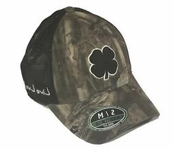 Black Clover Hunt Lucky 5 Hat Mens Fitted Cap Size S/M - Cam