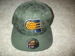 INDIANA PACERS New NWT Mens Hat Cap Camouflage Camo Green Fi