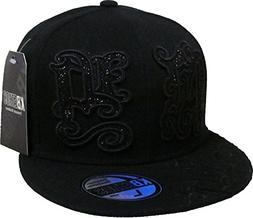 KBF-288 BLK-BLK L New York NY Fitted Baseball Cap Hat