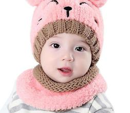 Kids Beanie Hat For Autumn Winter Warmer Fitted Cotton Head