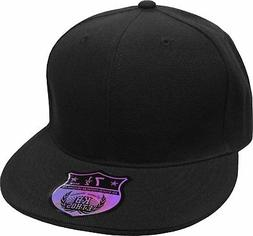 KNW-2364 BLK 7 3/8 The Real Original Fitted Flat-Bill Hats b