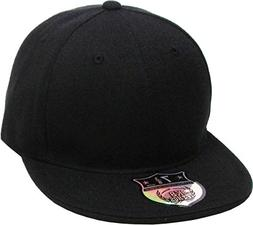KBETHOS KNW-2364 BLK  The Real Original Fitted Flat-Bill Hat