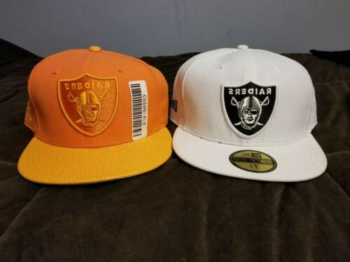 2 fitted oakland raiders hats brand new