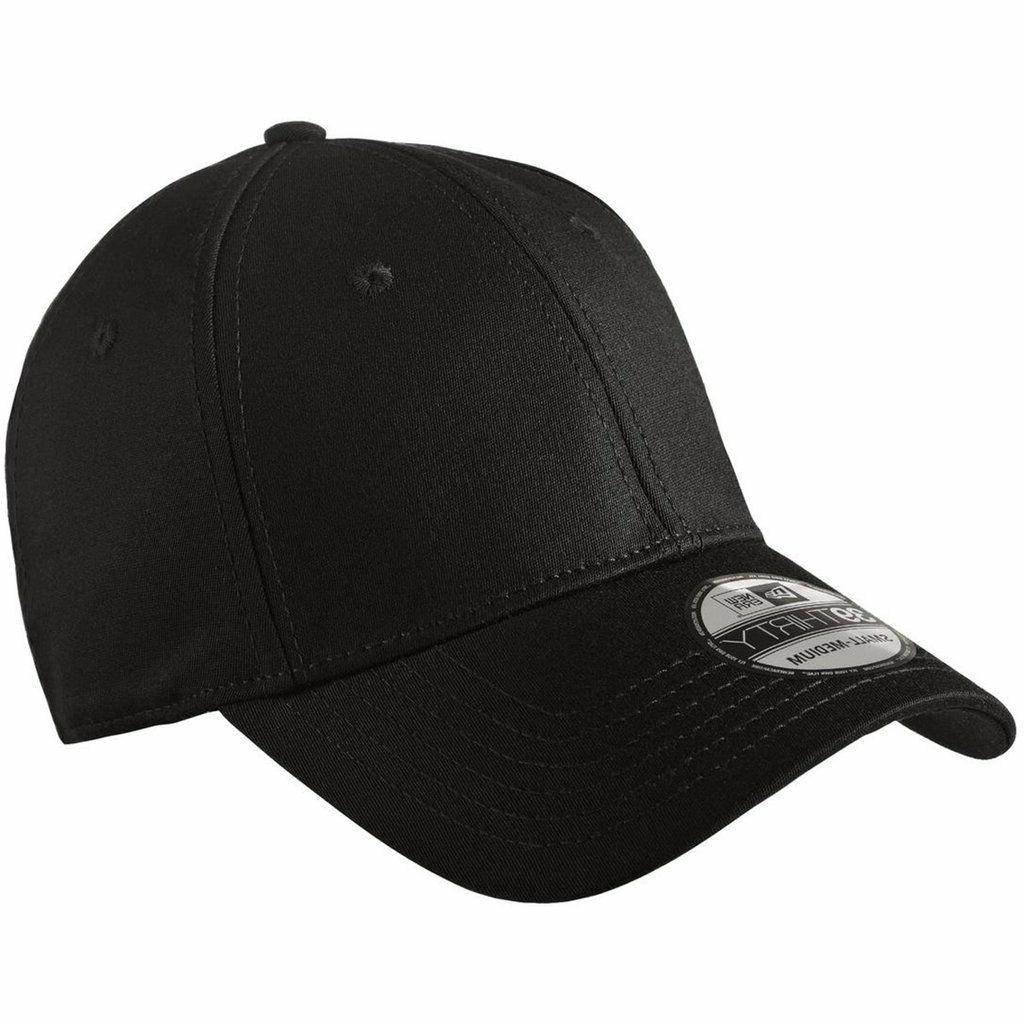 39thirty blank stretch cotton fitted black hat