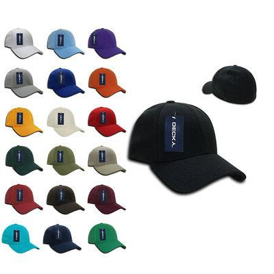 Decky FitAll Flex Fitted Baseball Dad Caps Hats 2 Sizes Unis