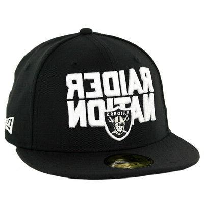 5950 oakland raiders raider nation fitted hat
