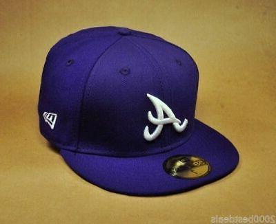 59fifty hat mlb atlanta braves mens fitted