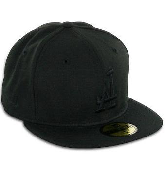 "New Era 59Fifty Los Angeles LA Dodgers ""Blackout"" Fitted Hat"