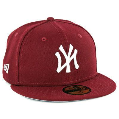 59fifty new york yankees fitted hat cardinal