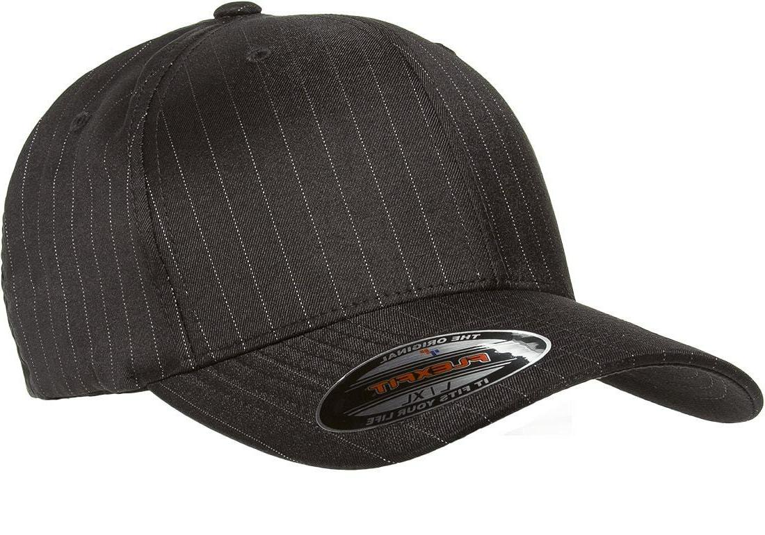 6195p pinstripe fitted baseball blank plain hat