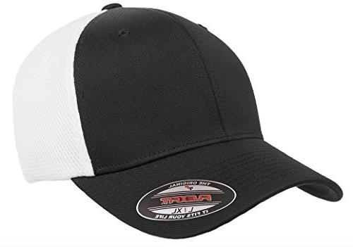 6533 ultrafibre and airmesh fitted cap black