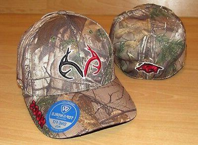arkansas razorbacks hogs memory fit realtree camo