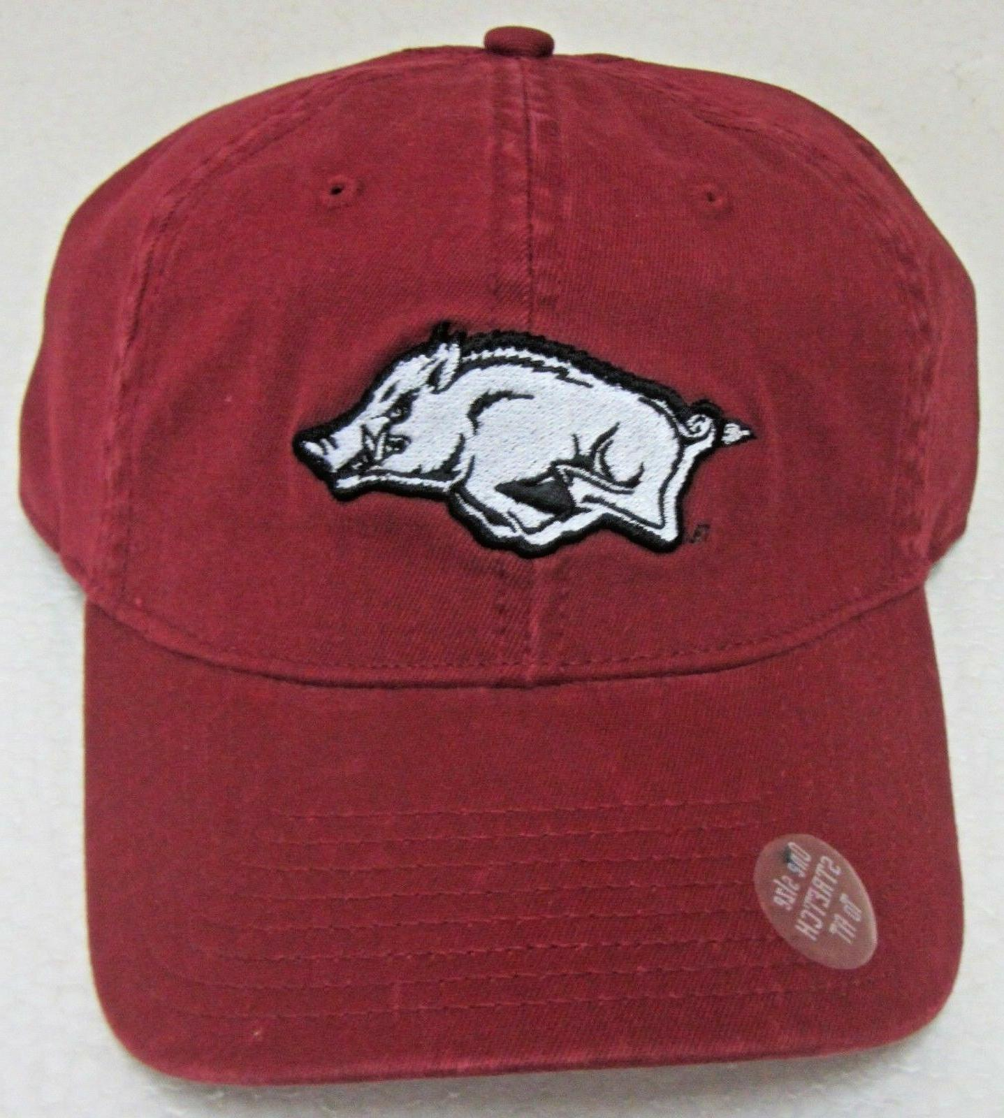 arkansas razorbacks red relaxed fit one size